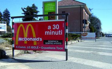 Cartellone Pubblicitario McDonald