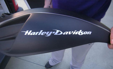 Wrapping carena HArley Davidson