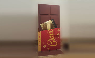Tavoletta di Cioccolato con biglietto d' oro
